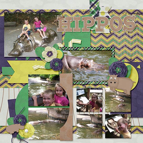 07-23-09 Woodland Zoo- Hippos