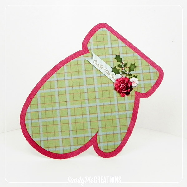 Plaid Mitten card
