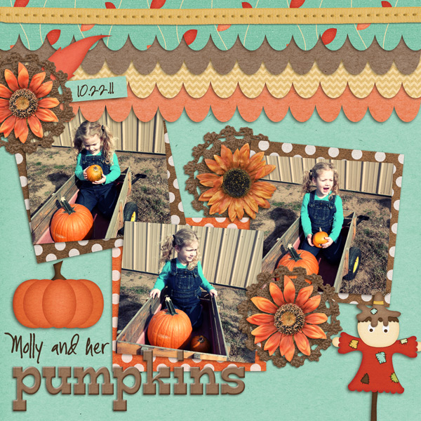 Molly and Her Pumpkins