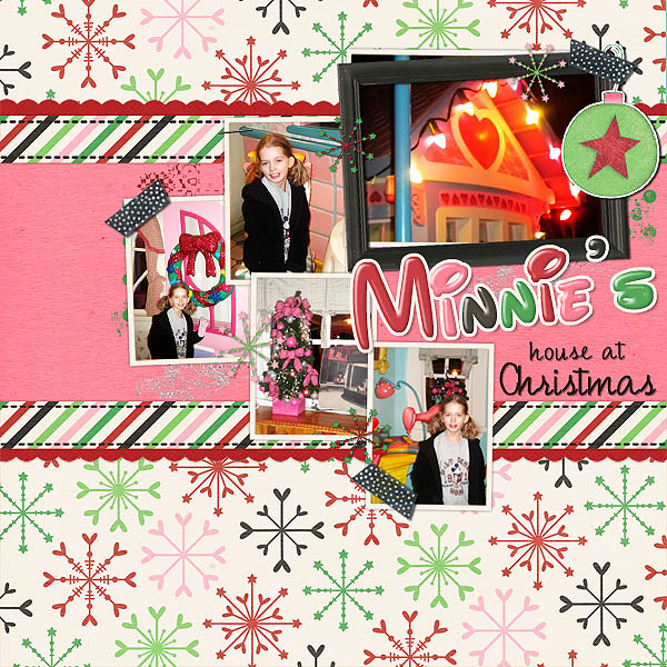 Minnie's House at Christmass