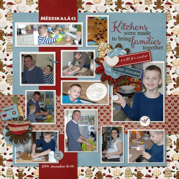 layout by me using Cookies for Santa and Kiss the Cook