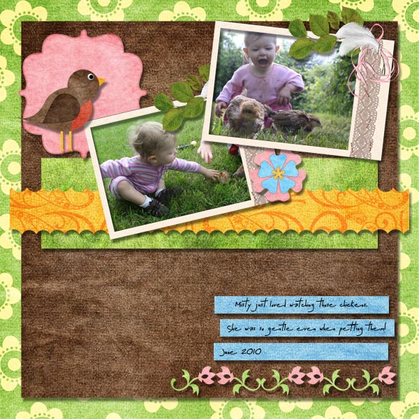 2010 07 Paper Scraplift- Misty with Chickens