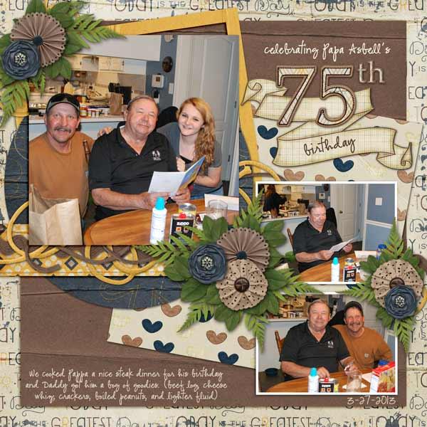 Papa's 75 birthday