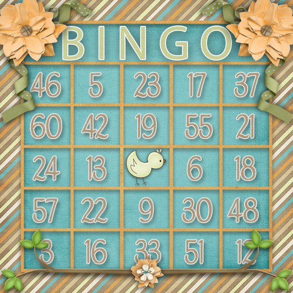 Sweet Tweets Bingo Card