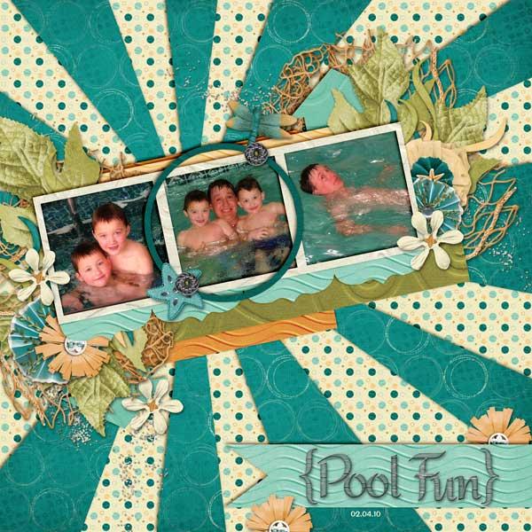 Boys Swimming at Hotel