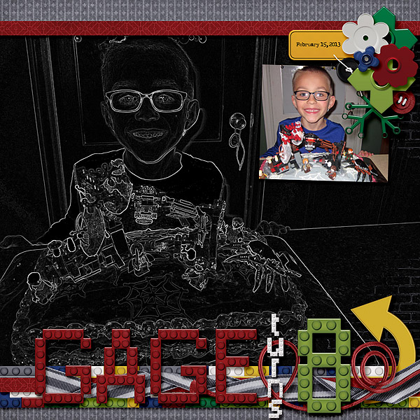 Gage Turns 8 (left page)
