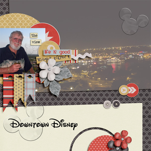 Downtown Disney view and Bill