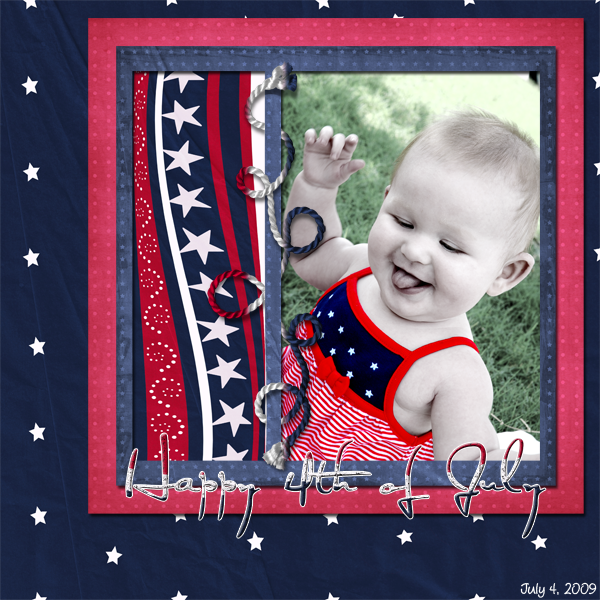Verlina's first 4th of July [7 months old!]