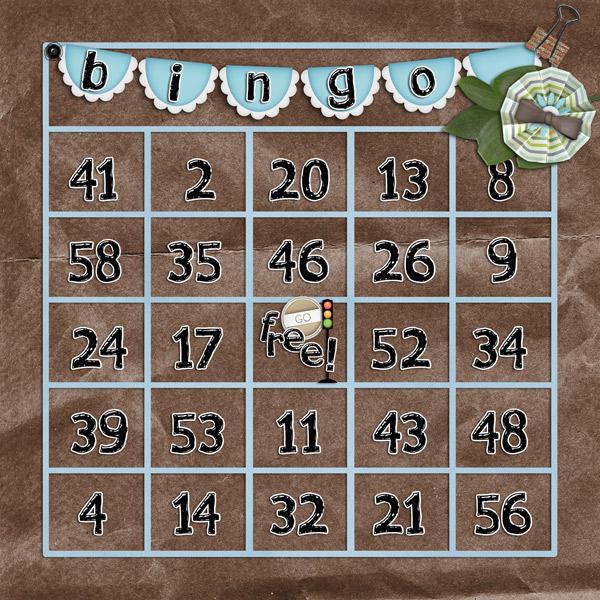 yabby bingo card