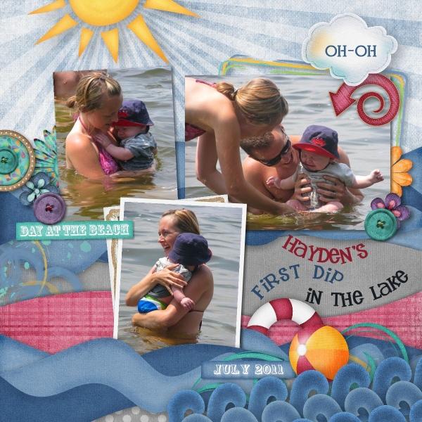 Hayden's 1st Dip