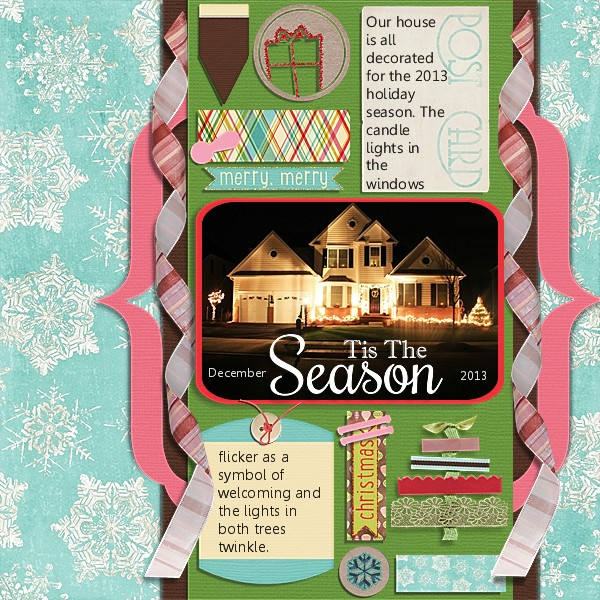 Holiday Season 2013 mistletoe kit cardstock chere kaye designs