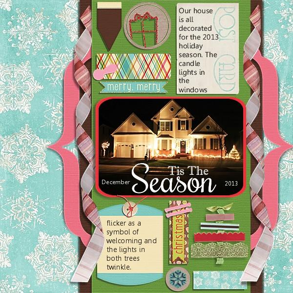 Holiday Season 2013 mistletoe kit cardstock chere kaye designs