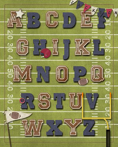 Football ABC Print