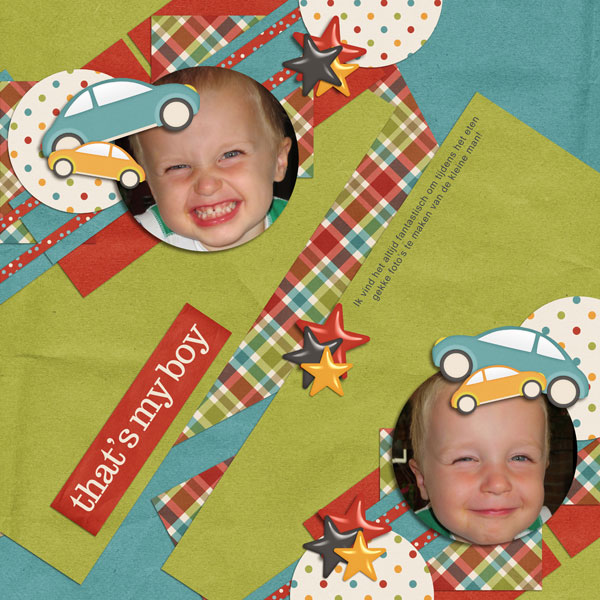 Luv Ewe Designs & Blue Heart Scraps - This little Boy - M&M Designs