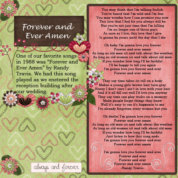 Forever and Ever Amen - June Scraplift