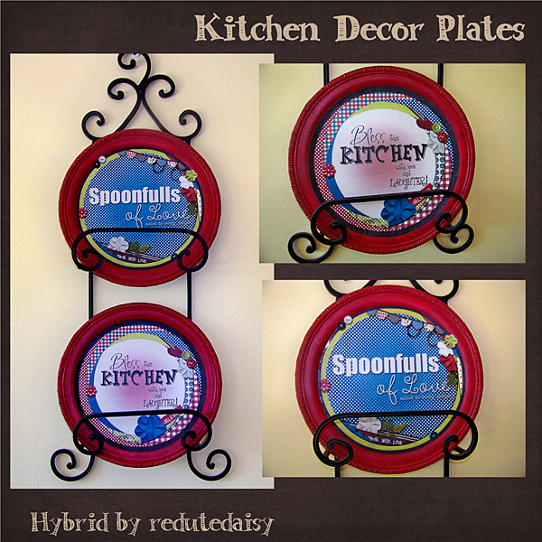 Kitchen Decor Plates