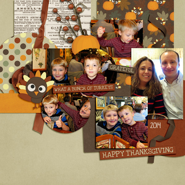 layout by LLD using Turkey Talk and Template Crazy vol. 7