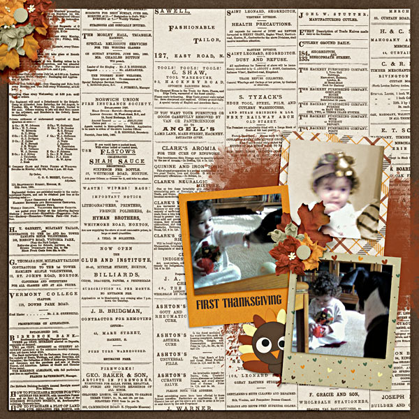 layout by Got2Scrap using Turkey Talk