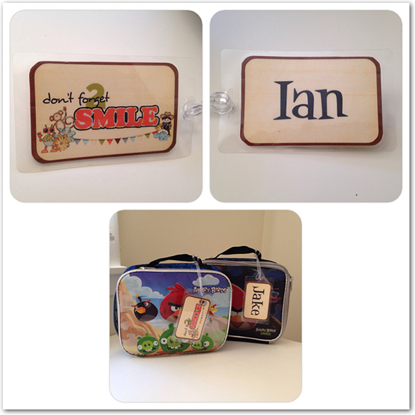 Lunchbox Tags