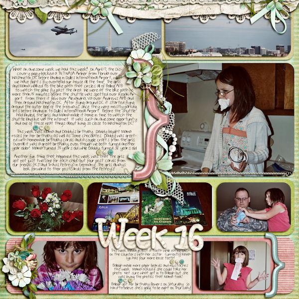 Week 16 (April 15 - April 21)