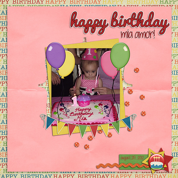 Happy Birthday Mia Amor!