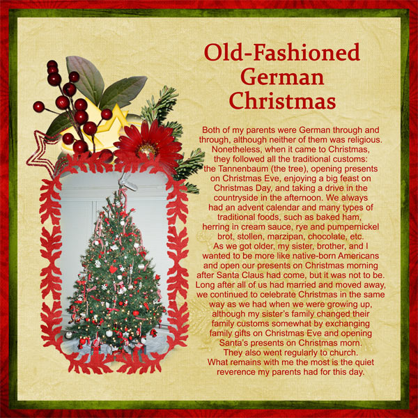 Old-Fashioned German Christmas