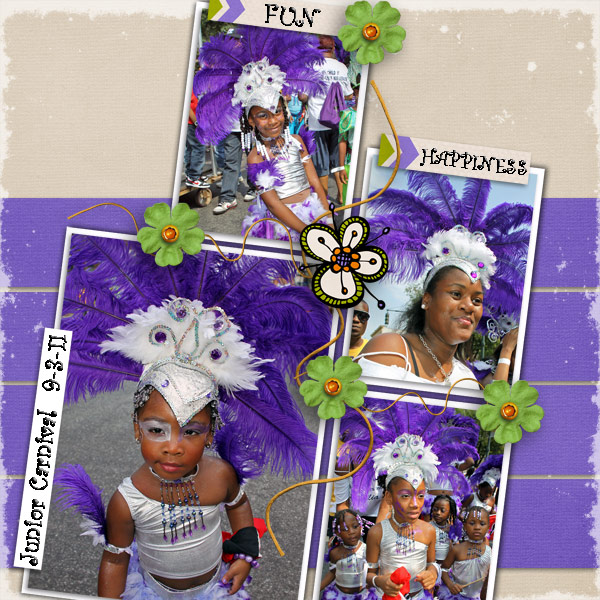 Purple & White Carnival Princesses
