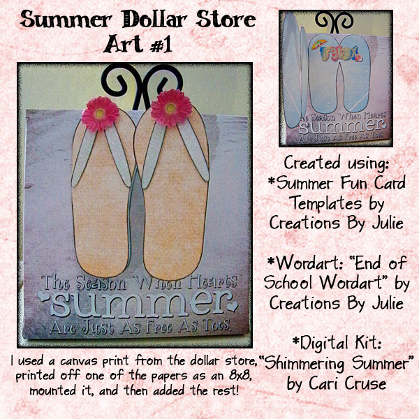 Summer Flip Flop Art
