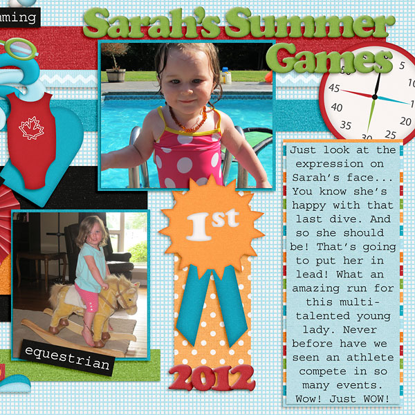Sarah's Summer Games (part 2)