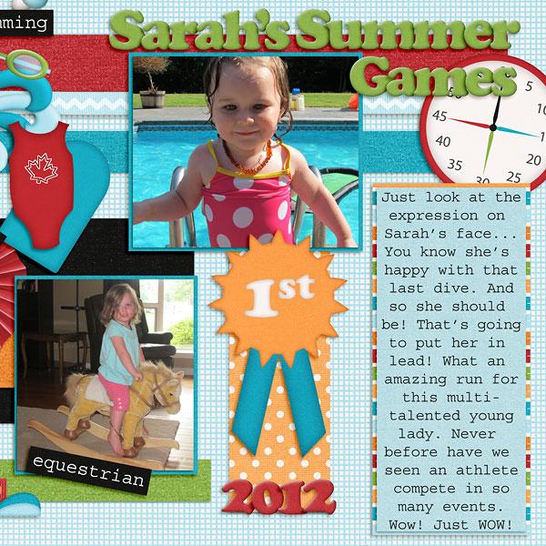 Sarah's Summer Games (part 2)