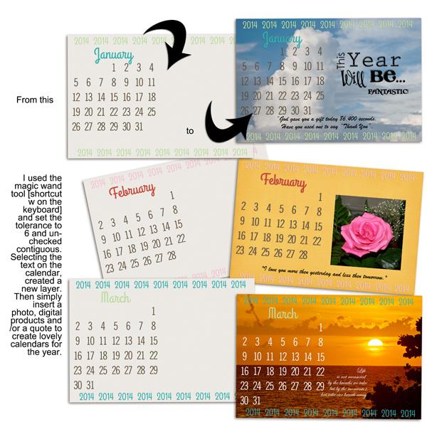 Creative Calendars for 2014