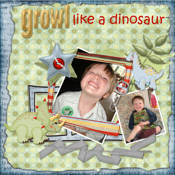Growl like a Dinosaur