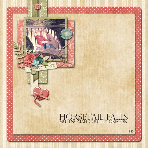 Horsetail Falls, circa 1985