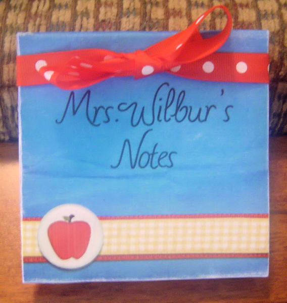 Mrs. Wilbur's Notes