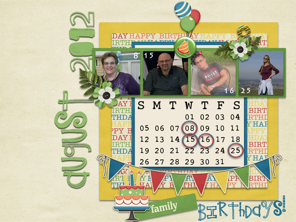 July Desktop Challenge- August 2012