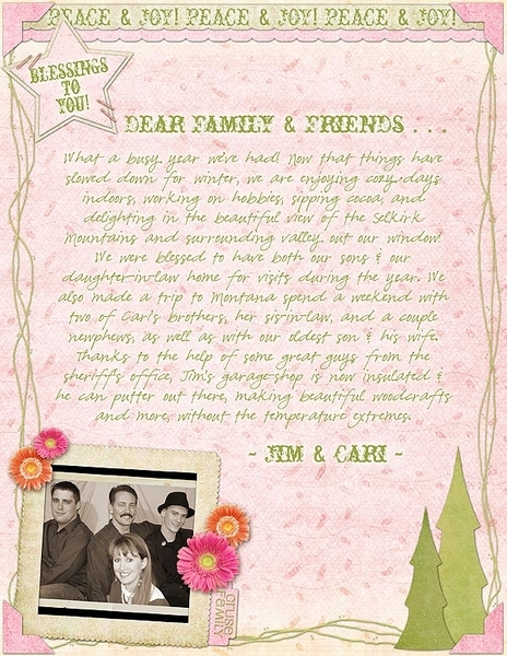 Holiday Letter 2011