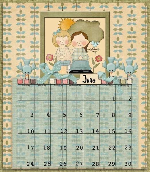 June CD calendar