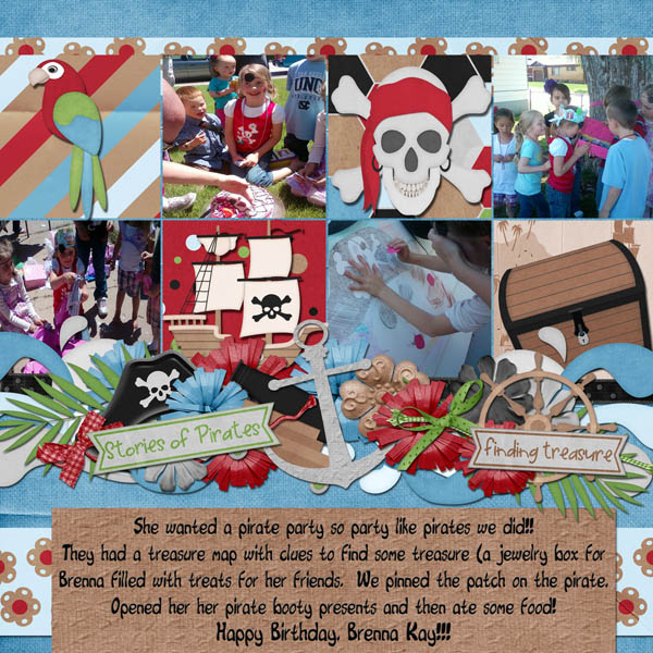Brenna's 6th Birthday Pirate Party