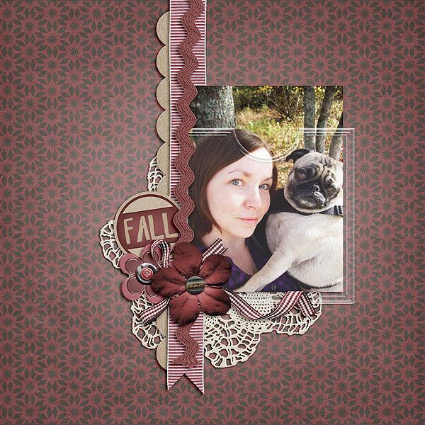 Fall with a Pug