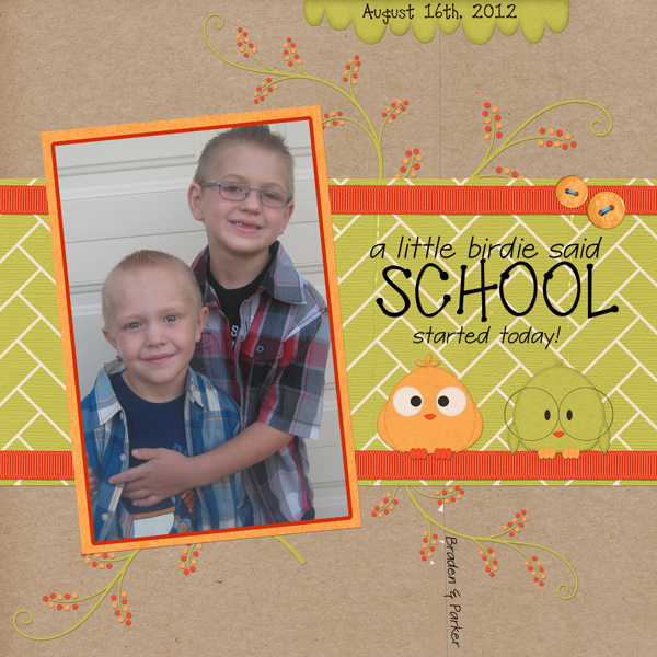 First day of School 2012-2013
