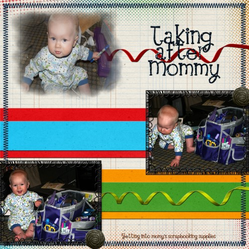 Taking after Mommy
