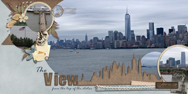 The view of NYC from the Statue of Liberty