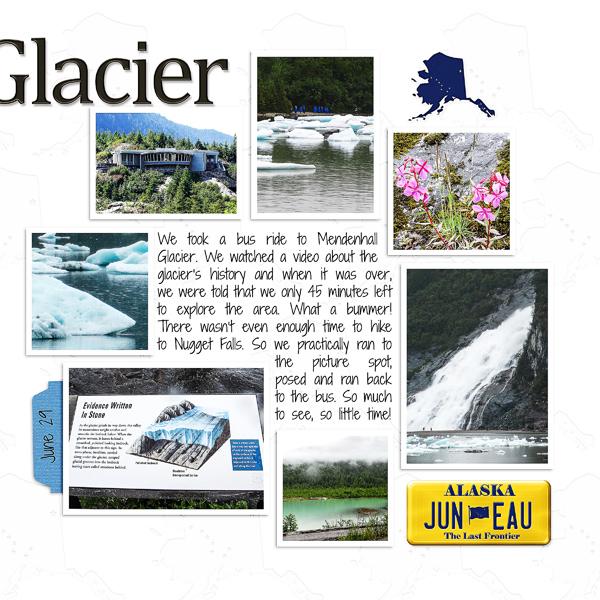 Mendenhall Glacier, right side