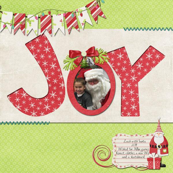 Zach with Santa