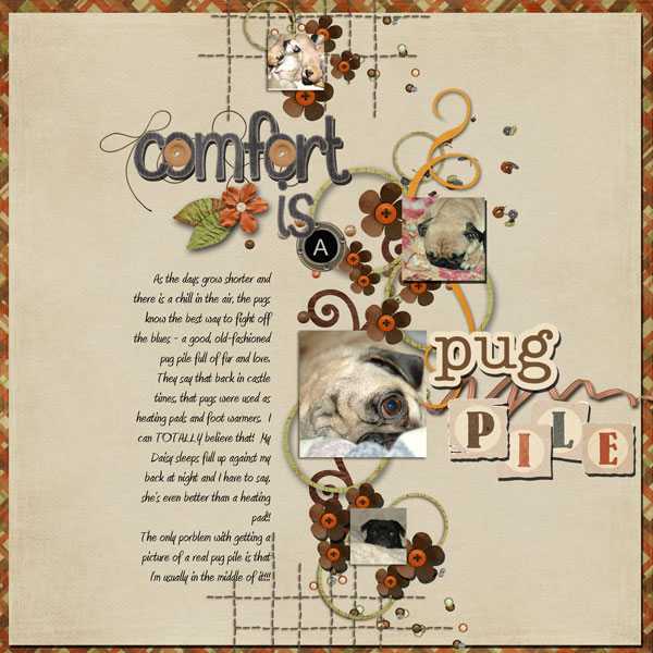 Comfort is a pug pile