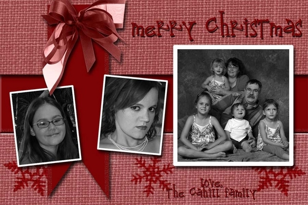 Merry CHristmas from The Cahill Family