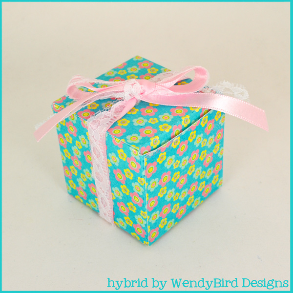Flowered Square Box