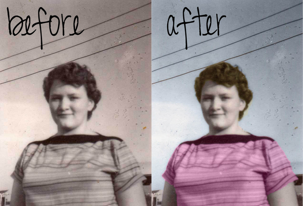 Mom before and after