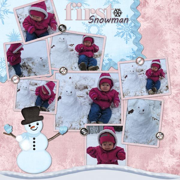 Bekah's First Snowman