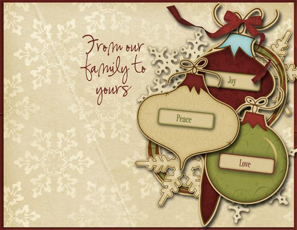 December Sweet Card